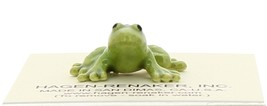 Hagen-Renaker Miniature Ceramic Frog Figurine Tiny Papa Frog, Baby and Tadpole image 11