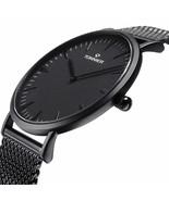 Black Stainless Steel Slim Men Watch Quartz Watch - $61.87