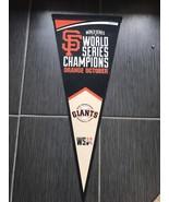 Giants 30 Inch Pennant World Series Champions Orange October - $12.45