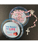 The Rosary for Life Rosary Beads - Pink - $13.95