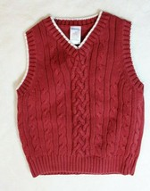 Gymboree Boys Sweater Vest Sz 4 Red White Holiday Pictures Casual Dressy Church - $19.79