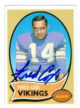 Fred Cox autographed Football Card (Minnesota Vikings) 1970 Topps footba... - $16.00