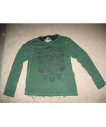 HELIX Long Sleeve Shirt Fray Style Green/Black Mens Short Sleeve Shirt S... - $18.99