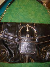 Merona Collection Handbag With Silver Colored Metal Chain Strap Dark Brown - $24.99