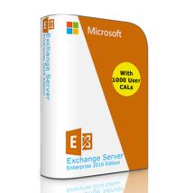 Exchange Server 2016 - Enterprise Edition 64 Bit, Complete with 1000 Use... - $1,975.05