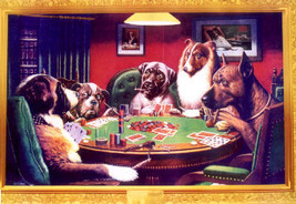 Coolidge Poker Playing Dogs Poster - $5.90