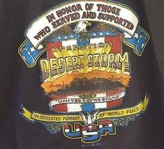 Adult Tee Shirt DESERT STORM Ships FAST Sale benefits WOUNDED WARRIOR PR... - $13.13 CAD