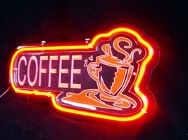 "Brand New Coffee 3D Acryl Neon Beer Bar Pub Neon Light Sign 11""x8"" High ... - $59.00"