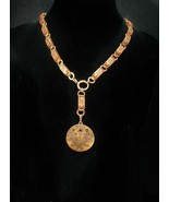 1874 Antique locket GORGEOUS Bookchain rose and yellow gold Victorian ne... - $675.00