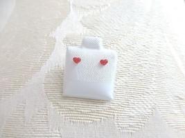 Tiny Red Heart Little Girl Post Earrings  - $8.15