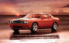 2012 DODGE CHALLENGER POSTER 24 x 36 INCH ORANGE SUNSET - $18.99