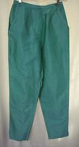 Saks Fifth Avenue Sz 6 Real Clothes Raw Silk Slacks Straight Leg Pockets... - $28.70