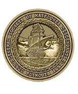 Mayflower Descendants Medallion for Box Cremation Urn/Flag Case -2 Inch ... - $59.99