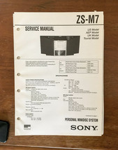 Sony ZS-M7 MiniDisc System  Service Manual *Original* - $18.46