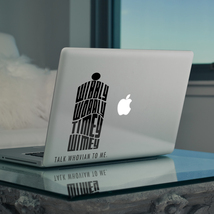 """Text Typography Doctor Who Tardis for Apple Macbook 13"""" 15"""" Vinyl Sticker Decal - $6.47+"""