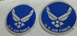 United Staes Air Force Set of 2 Diff Design Stickers/Decals  - $3.95