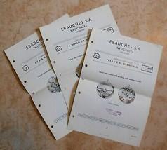 Vintage 1952 Ebauches S.A. Neuchatel Swiss Watch Repair Brochure Guides 5 6 & 7 - $5.99