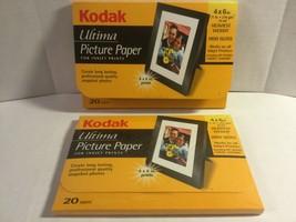 Kodak Ultima Picture Paper High Gloss 4 x 6 Sheets for Inkjet 2-pkgs of 20 each - $16.99
