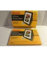 Kodak Ultima Picture Paper High Gloss 4 x 6 Sheets for Inkjet 2-pkgs of ... - $16.99