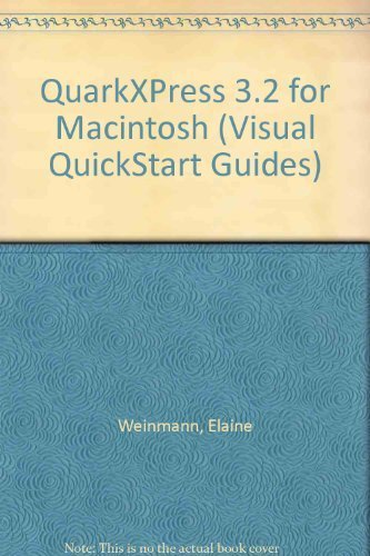 QuarkXPress 3.2 for Macintosh -1993 publication. [Paperback] by