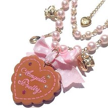 Angelic Pretty Wonder Cookie Necklace in Brown x Pink Lolita Fashion - $89.00