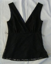 H&M black Lace Lined Sexy Sleeveless Top   sz.4  NWOT - $5.99