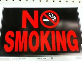 The Hillman Group 839896 8-in x 12-in Smoking Sign [Office Product]