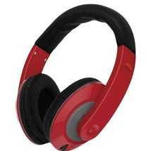 VIBE SOUND VS-867-RED Color Curve Stereo Headphones - Red [Electronics]