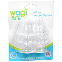 Wagi Silicone Nipples 6 Pack [Baby Product]