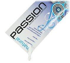 XR Brands Passion Natural Water-Based Lubricant - 0.25 oz Single Use Pouch