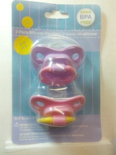 2 pack Silicone Pacifiers, color varies [Baby Product]