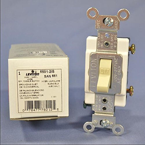15A Grounded Quiet Single Pole Switch