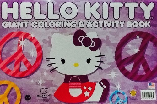 Hello Kitty! Purple Cover ~ Oversized Giant Coloring & Activity Book! Games! ...