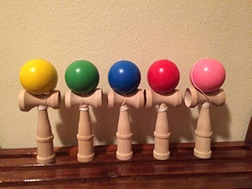 19cm 5 kendama ball japanese traditional wood game toy education gifts [Toy]