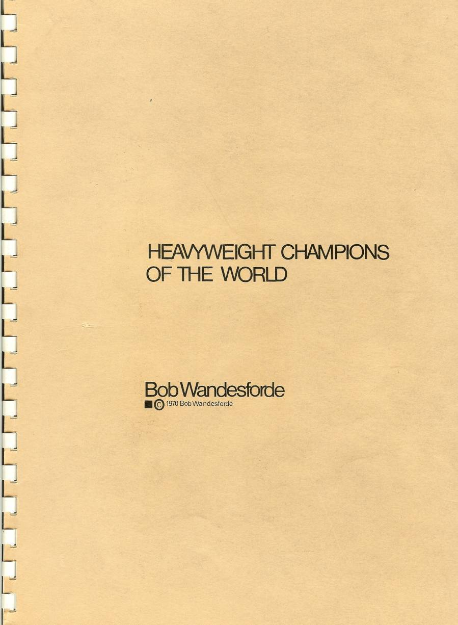 Primary image for boxing heavyweight champs of the world sketch book marciano clay baer johnson ec