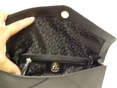 DKNY shoulder bag handbag envelope saffiano leather  blacks