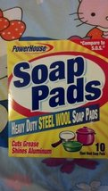 "Personal Care Products ""PowerHouse"" Heavy Duty Steel Wool Soap Pads - 10-Coun..."