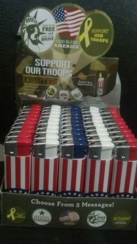 Support Our Troops Dual Purpose Flame & Projection Lighter - 5 Lighters [Misc.]