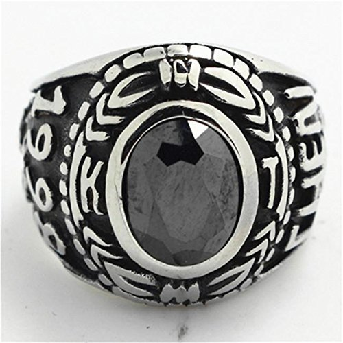 Stone Army Ring 316L Stainless Steel Fashion (9) [Home]