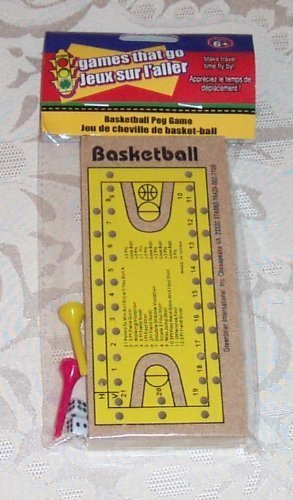 Wooden Travel BASKETBALL PEG GAME New in Package! [Toy]