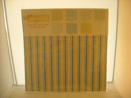 "Baby Scrapbooking Boy 12""x12"" Acid Free Paper New Sealed [Office Product]"