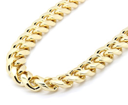 "Mens 18mm 14k Gold Plated Heavy Thick Cut Hip Hop Necklace Cuban 30"" - $79.20"