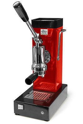 Ponte Vecchio Export Red Manual Lever Espresso Cappuccino Coffee Machine 220V