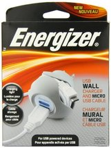 Energizer PC-1WACMC 5-Watt Premium Single-Port USB Wall Charger with Cab... - $23.75