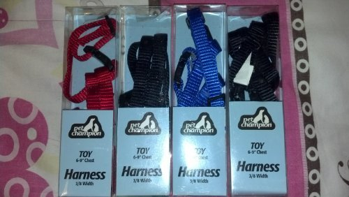 "PET CHAMPION TOY 6-9"" CHEST HARNESS 3/8 WIDTH (2 PACKS) - COLOR MAYBE VARY"