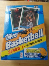 1992-93 Topps Series 1 Sealed Basketball Box 36 Packs Factory Sealed Topps Gold - $24.56