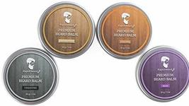 Beard Balm Conditioner 4 Pack - Natural Variety Leave-in Conditioner Wax Butter  image 8
