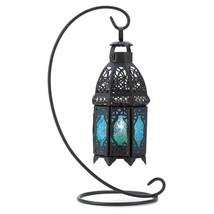 Outdoor Hanging Lanterns, Sapphire Table Metal Portable Rustic Outdoor L... - £20.17 GBP