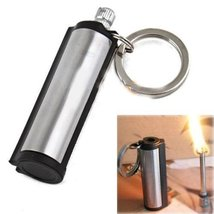 New Permanent Match Striker Lighters w Key Chain Silver [Kitchen]