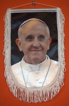 Pope Francis Franciscus Papa Francesco Tribute Flag Wall Hang Fringed